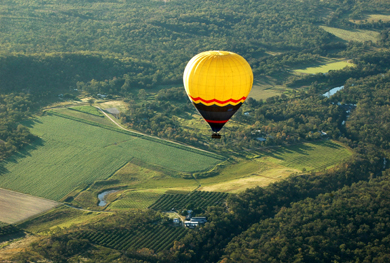 Ballooning over the Tablelands, Australia