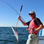 Catching Spanish mackerel off the Alabama coast.
